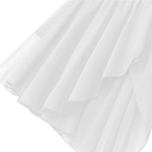Image 5 - 여성 민소매 비대칭 쉬폰 발레 댄스 레오타드 드레스 성인 서정적 인 현대 무용 연습 의상