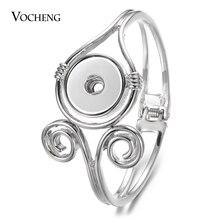 10 teile/los Neue Vocheng Gingersnaps Armband Legierung Armreif fit 18mm Snap Charms Diy Schmuck Weiblichen Geschenk Großhandel NN 743 * 10