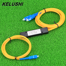 KELUSHI 1x2 הטלקום PLC קלטת סיבים אופטי ספליטר עם SC קומפקטי אופטי ספליטר GPON מישוריים מוליך גל מחבר