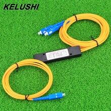 KELUSHI 1x2 telekom PLC kaset Fiber optik Splitter SC kompakt optik Splitter GPON düzlemsel dalga kılavuzu konektörü