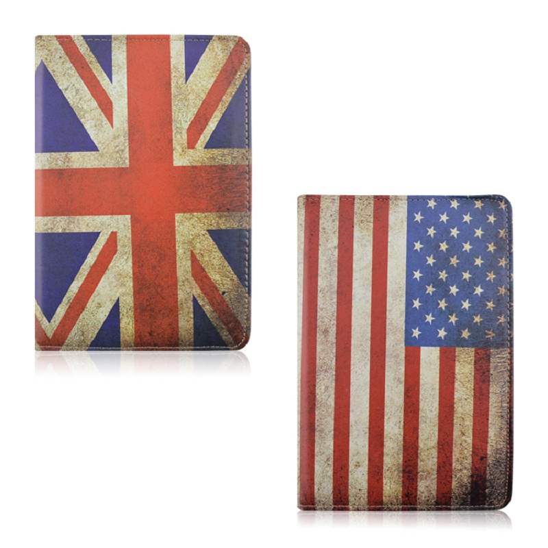 Flag of USA UK Pattern 360 Rotating PU Leather Full Body Case with Stand for iPad Mini 1 Mini 2 Mini 3