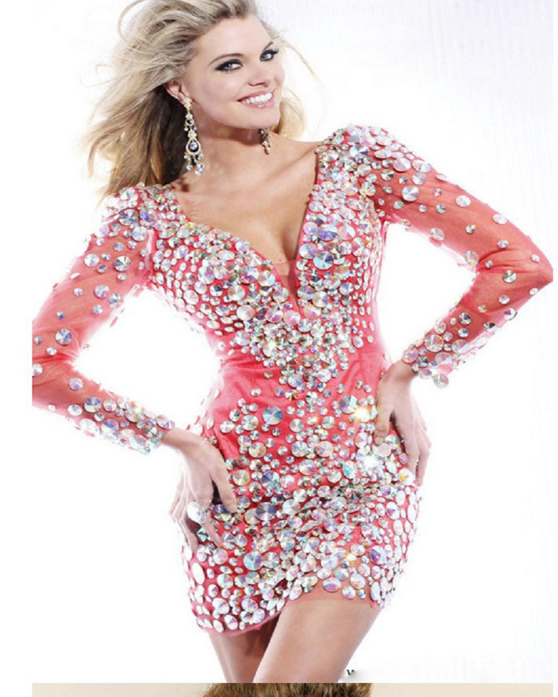 New Short Prom Dress Sexy Red Green Pink Champagne Backless ...