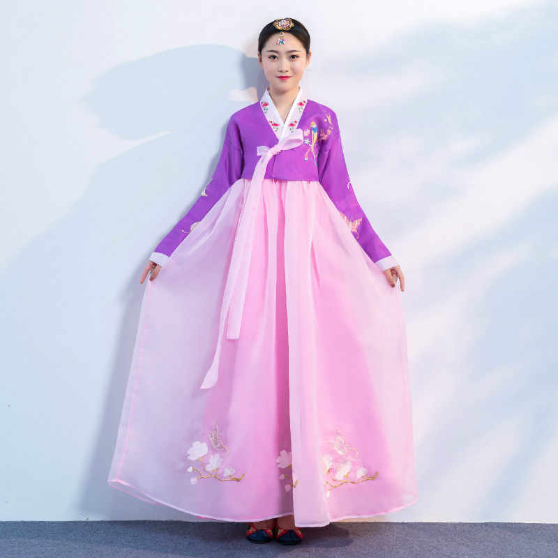 Traditional Wedding Palace Korean Hanbok for Women Asian National Dance Costume Hanbok Dress Stage Cosplay Performance Clothing