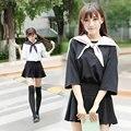2017 Verano Los Estudiantes de Clase Traje de Marinero falda de uniforme escolar Japonés y coreano Dolly para Niñas Cosplay