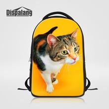 Dispalang Cat животных печати школьные сумки стильная дорожная сумка для ноутбука для мужчин и женщин на открытом воздухе ранец студент рюкзак rugzak