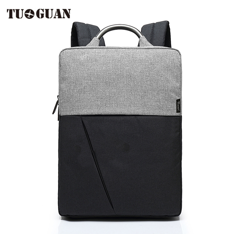 TUGUAN Fashion Men Backpack Canvas Waterproof Business Casual Back Pack Schoolbag Laptop Computer Bag for Male Boy canvas men s backpack bag teenagers laptop notebook mochila for men waterproof back pack school backpack bag casual daypack