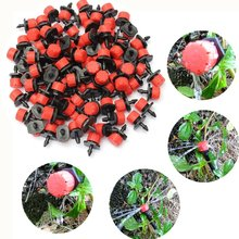 50/100pcs Sprinkler Garden Irrigation Micro Flow Dripper Drip Head Sprinklers Adjustable Water