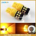 T20 7440 7443 Alta Potência 2835 21SMD Amarelo Âmbar Ligue Lâmpada Luz de Sinalização