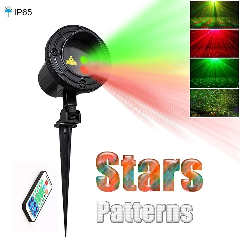 Laser Star Light Projector Showers Christmas Garden Lighting Waterproof Outdoor lamp with RF Remote Red Green Mix Motion Twinkle outdoor garden decoration waterproof elf christmas lights star laser projector showers lantern flashlight stage light