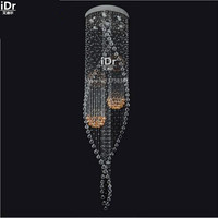 Stylish, modern crystal lamp stairs light aisle lights Crystal ball shaped lamp Ceiling Lights wwy 0194