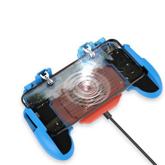 For PUBG Mobile Phone Gamepad Game Controller Joystick Cooling Fan Gamepads Ergonomic Design For SamSung iPhone Xiaomi