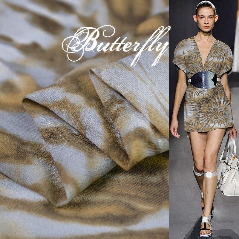 100cm*114cm Ethnic Flowers Fabric For Dress Quality Wool Silk Material Georgette Chiffon