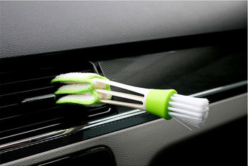 Car Air Conditioner Vent Slit Cleaner Brush Stickers For Mercedes-Benz W205 X117 C117 C257 X218 C218 R197 C197 Car Accessories image
