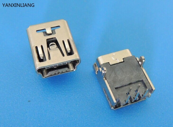 20PCS Mini USB Type B Female 5 Pin DIP PCB Socket Connector 2 pin Straight Leg