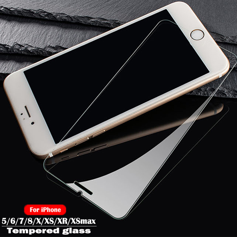 Protective Tempered Glass For Iphone 7 6s  8 X 5S SE 4S Screen Protector Glass Protective Film For IPhone 6 7 8 Plus XS Max XR