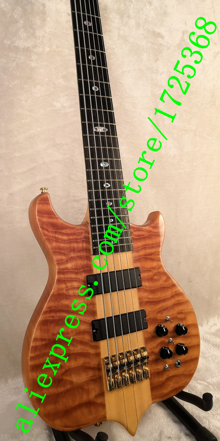 electric bass guitar Rosewood Fretboard gold Hardwares Quick shipment 6 strings