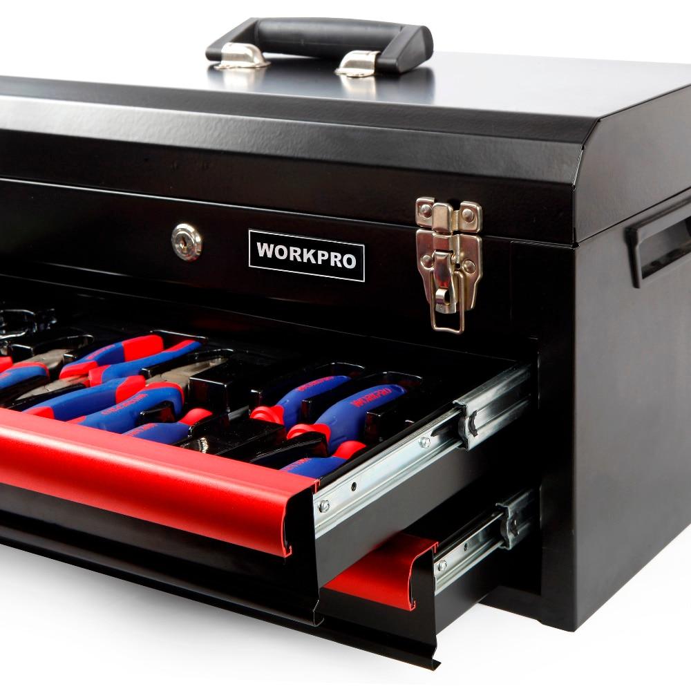 Купить с кэшбэком WORKPRO 76PC  Home Tool Set Heavy Duty Metal Box Household Tool Kits