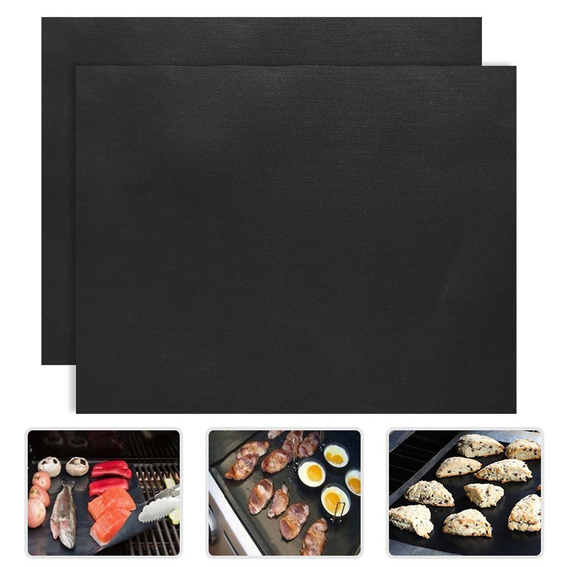 33x40cm PTFE Non-stick Bbq Grill Mats Reusable Barbecue Baking Liners Teflon Cooking Sheets Bbq Tools Outdoor