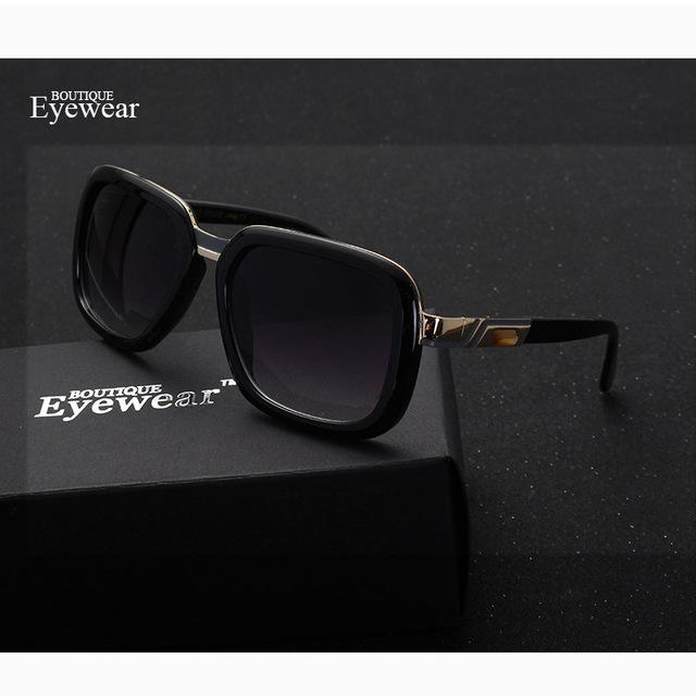 Homens Óculos de Sol Quadrado Quadro óculos de Sol Das Mulheres Designer De Marca BOUTIQUE H1883