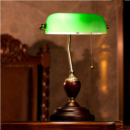 ФОТО Europe classical curved design green glass Table Lamps Nostalgic exquisite metal holder lamp for bedroom&studio&foyer&tea table