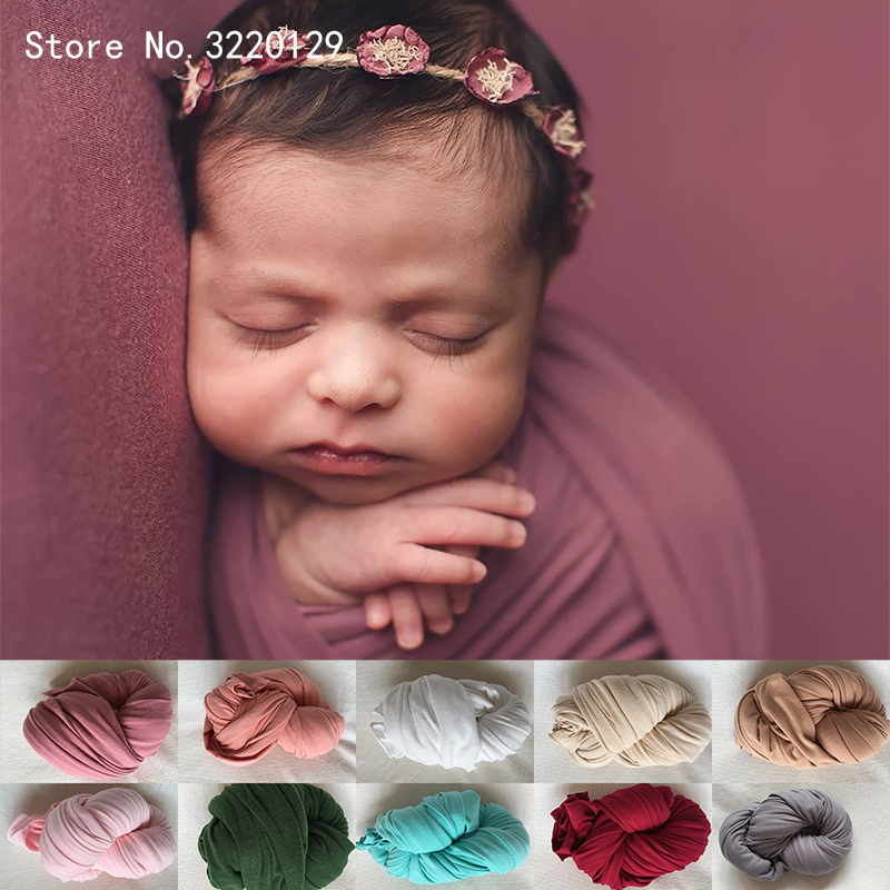 2018 New 40*160 cm Stretch Double-Sided Wrap Newborn Photography Props Baby Photo Shoot Accessories Photograph For Studio(China)
