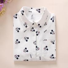 2019 Spring New Women Long Sleeve High Quality Cotton Shirt