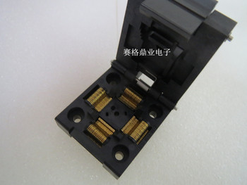 Clamshell 100%New&Original  QFP64  IC51-0644-807  IC Burning seat Adapter testing seat Test Socket test bench in stock
