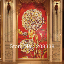 Jqh005 guelder red crystal mosaic cut picture tv background wall entranceway tile fashion flower