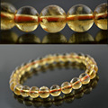 Grade AAA Genuine Natural Citrine 8mm Fashion Women Strand Bracelets 7.5'' Round Beads Lucky Jewelry #12