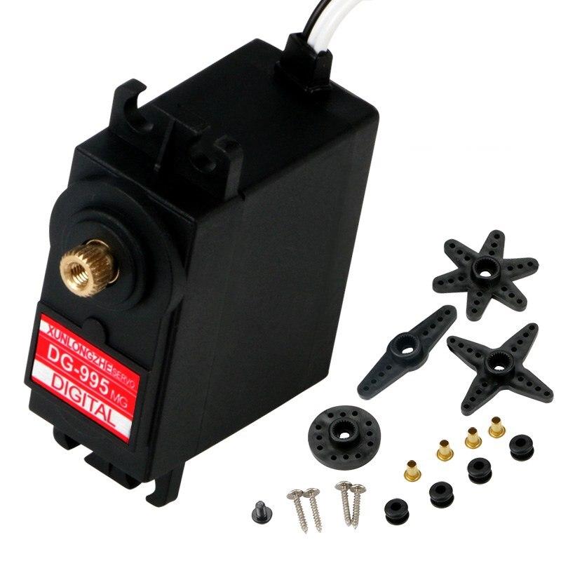 RC robot digital servo DG-995MG 59g large torque MG995 9/15/20/25/30KG metal gear 90/180/270/360 degree continuous rotation