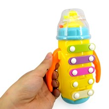 Feeding Bottle Shape Baby Infant Xylophone Rattles Musical Instrument Toy Plastic Percussion Toys Cute Colorful Product
