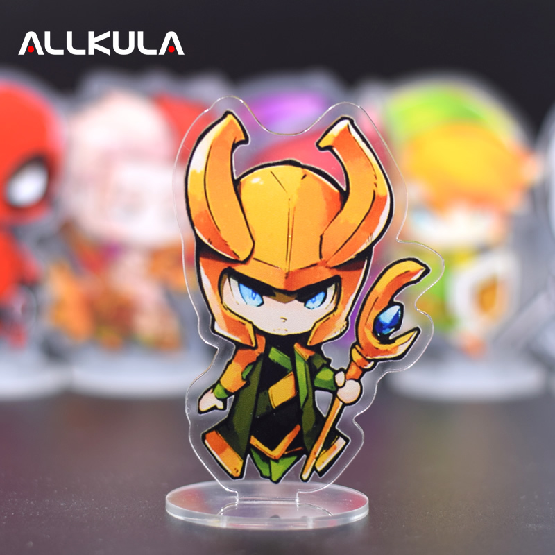 10CM Infinity War Loki Thor Action Figure Captain America Cute PVC The Avengers Toy High Definition Acrylic Collectibles