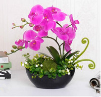 Simulation flower room decorated with plastic flowers, interior decoration, small fresh flower set.