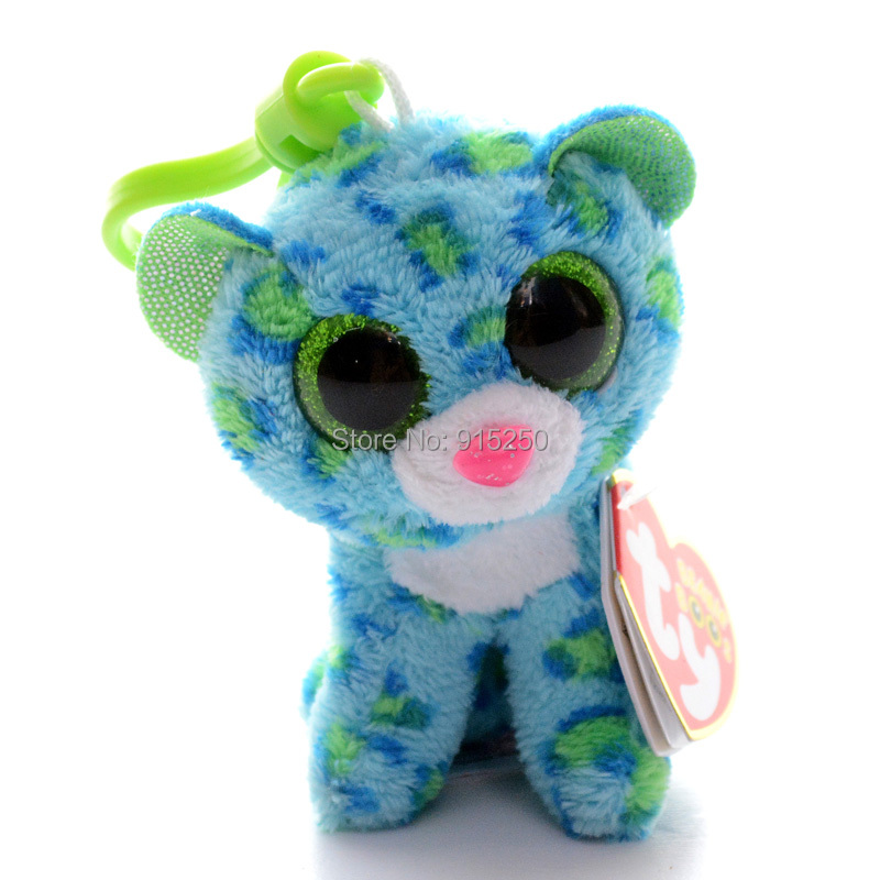 Lovely 3 Official Ty Collection Blue Glamour Leopard Plush Toys