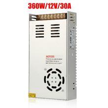 Evrensel anahtarlama dönüştürücü güç kaynağı adaptörü trafo anahtarı güç LED şerit ışık için 220V için 12V DC 30A 360W