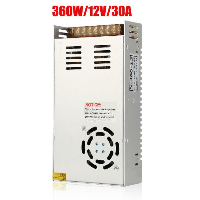 Universal Switching Converter Power Supply Adapter Transformer Switch Power for LED Strip Light 220V to 12V DC 30A 360W