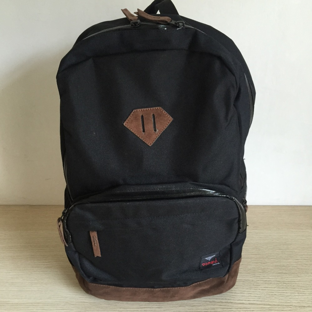 Multifunctional Diamond Supply Black Backpack Shoulder Bags Nylon Bag Men Or Women 45x35cm Sports Bag City Running Bag Numerous In Variety
