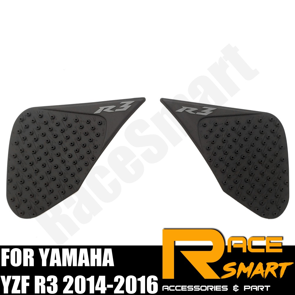 Motorbike Accessories Motorcycle Tank Pad For Yamaha Yzf R3 2014-2016 Gas Knee Grip Protector Fuel Sticker Side Pads Yzf-r3 2014 2015 2016