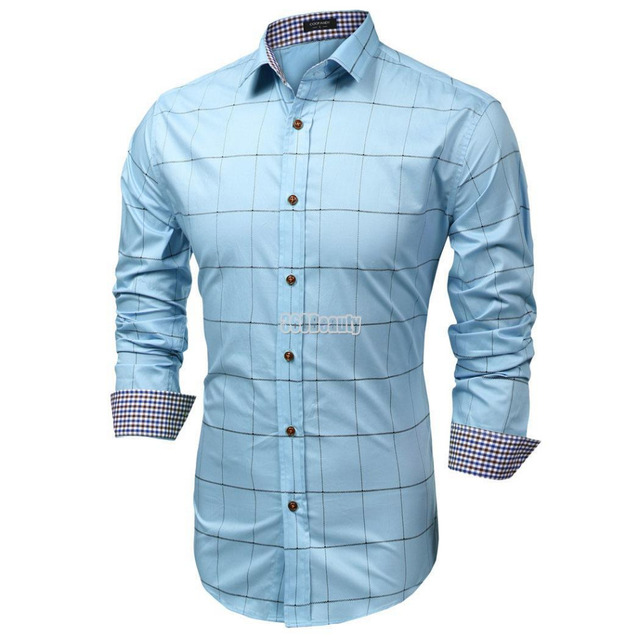 Mannen Blouse Of Overhemd.Coofandy Modemerk Overhemd Mannen Kleding Slim Fit Mannen Lange
