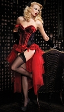 FREE SHIPPING 86505 Red and purple Valentina Burlesque Corset & Bustle Skirt Set size S,M,L