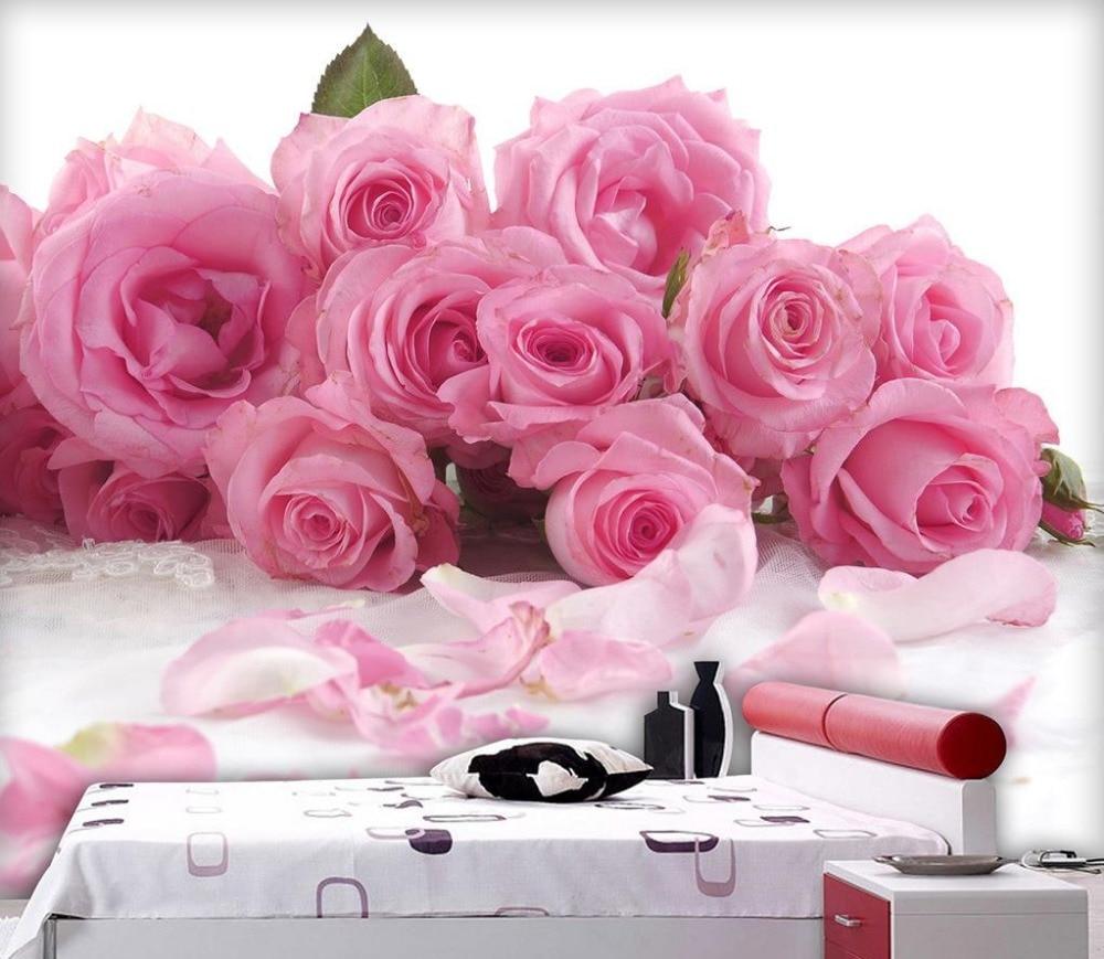 3D Wallpaper Flower Rose 3d Stereoscopic Wallpaper Custom 3d