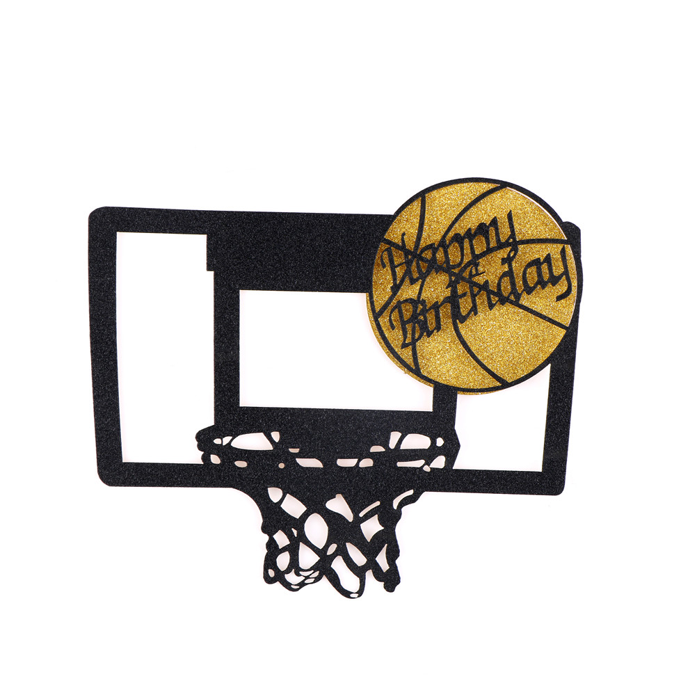Wedding & Anniversary Bands Able 1pc Art Door Cake Flags Kids Birthday Party Happy Birthday Basketball Cupcake Cake Toppers Baby Shower Wedding Baking Decor