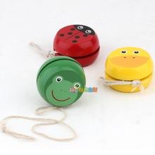 Mignon animal yo-yo jouets portant papillon professionnel Yoyo jouets bois haute précision jeu accessoires spéciaux diabolo jonglage