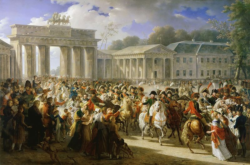 TOP ART painting # French king Emperor Napoleon Bonaparte Entry of Napoleon I into Berlin PRINT oil painting   good quality-in Painting & Calligraphy from Home & Garden on AliExpress - 11.11_Double 11_Singles' Day 1