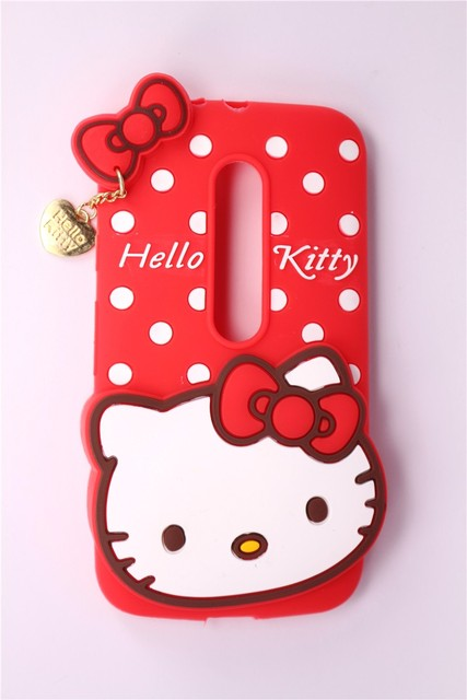 buy popular 8a346 d7283 US $4.81 |Phone Case For Motorola Moto G3 (G 3rd Gen 2015) 3D Cartoon Cute  Polka Dot With Heart Pendant Pattern Case Silicone Back Cover on ...