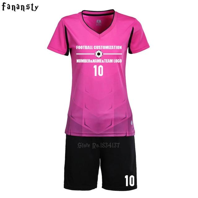 0f99a579a8806 Fútbol mujer niñas uniformes de fútbol equipo personalizado fútbol Fútbol  2017 nueva llegada