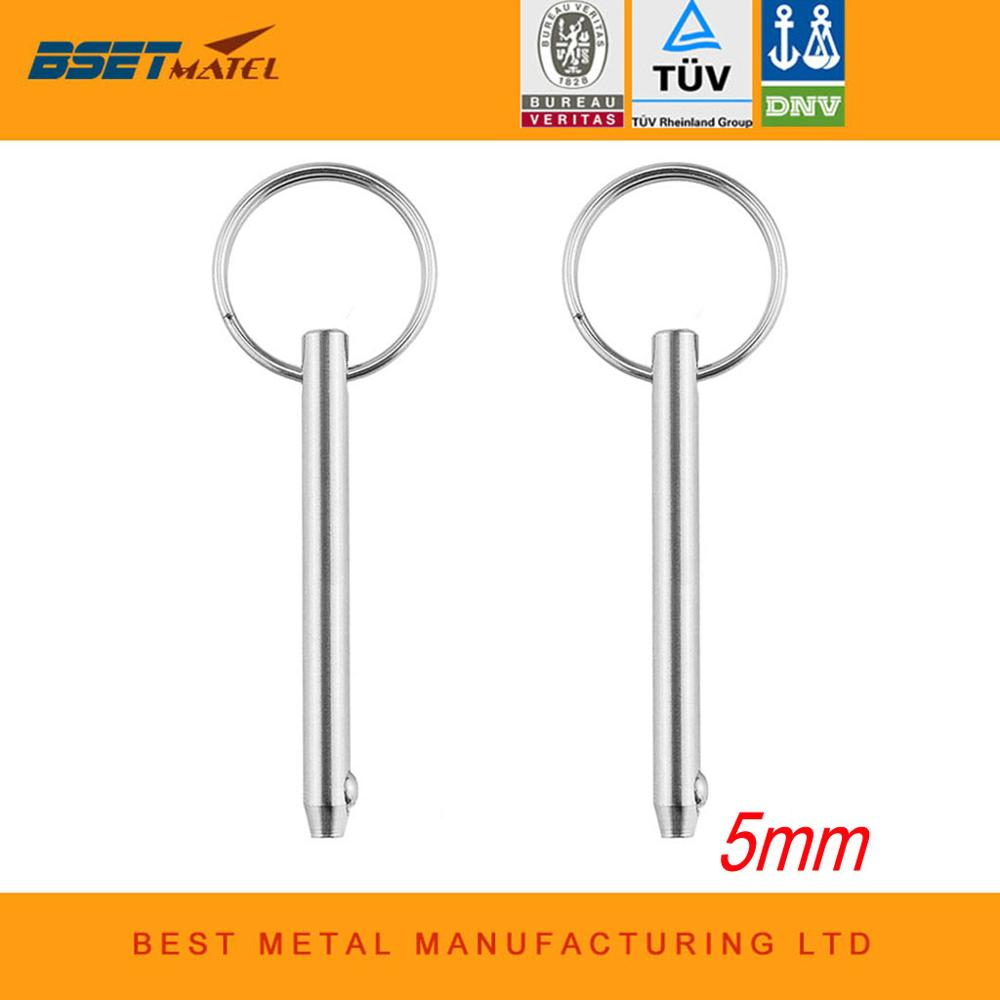 2PCS 5mm BSET MATEL Marine Grade 316 Stainless Steel Quick Release Ball Pin For Boat Bimini Top Deck Hinge Marine Hardware