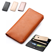 Top Microfiber Leather Pouch Bag Case Cover Wallet Flip For Multi Smart Phone Smartphone Model Below 5.7 inch
