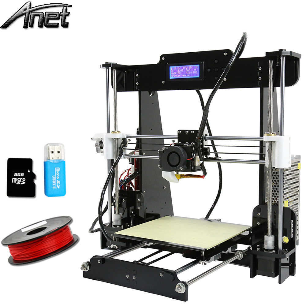 Anet A8 3D Printer Reprap Prusa i3 3d printer DIY Kit Large Print size 220*220*240mm with Filament + SD LCD Screen free