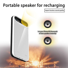 Portable Speaker Phone Battery Charger Case for iPhone 6 6s 7 8 Plus 5800/8200mA